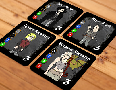 Game of Thrones Board Game Characters Cards