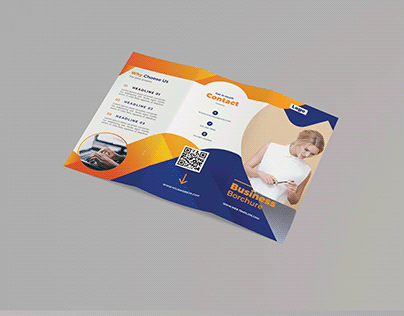 Tri-fold Business Brochure Template
