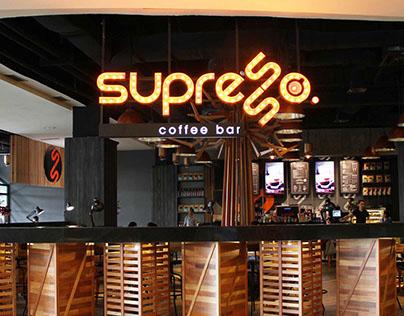 Supresso Coffee Bar Collateral & Branding