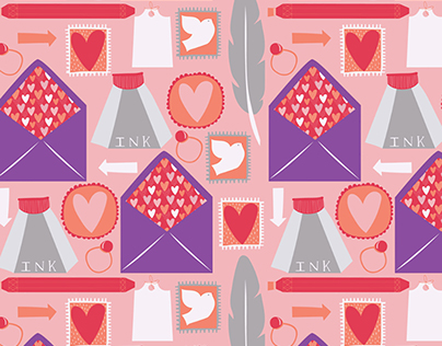 With Love // Vintage Letter Writing Set // Pattern