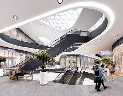 Shopping mall interior CGI