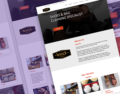 Page for Laundry Shoes service