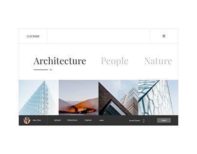slideshow website concept