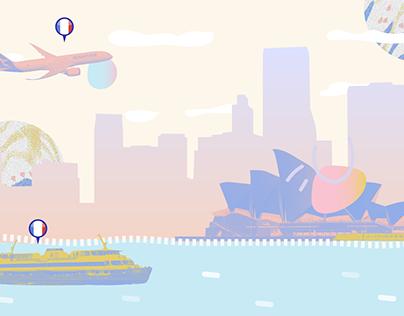 Illustration projet France/Australie