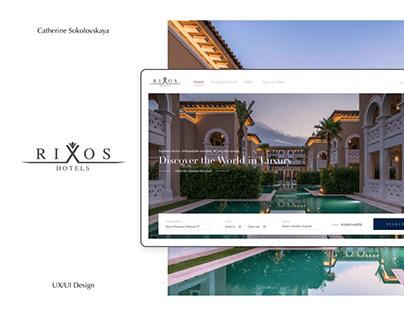 Rixos Hotels — Website design concept