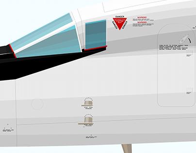 Über Detail: XB-70A Valkyrie 20207 Illustration