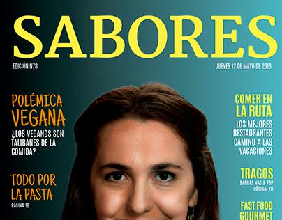 Diseño Editorial, Revista Sabores