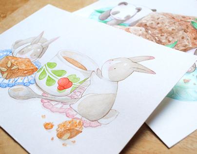 Weekly Bake - Watercolour Series