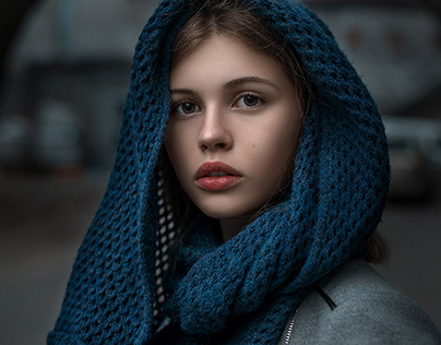 Portraits of a beautiful young lady
