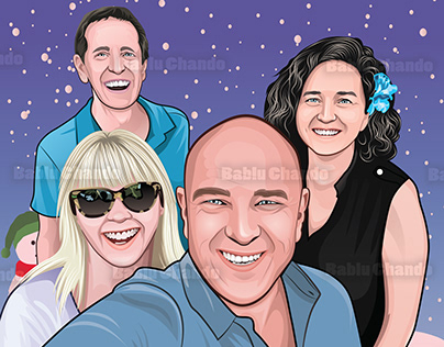 Cartoon Portrait Designs for an Amazing Client