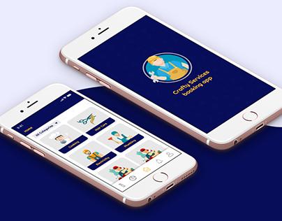 Crafty Services booking app-(Customer app)