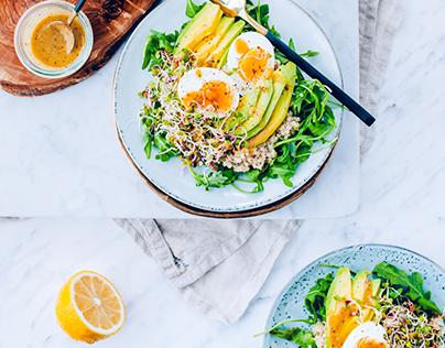 Avocado & egg quinoa salad