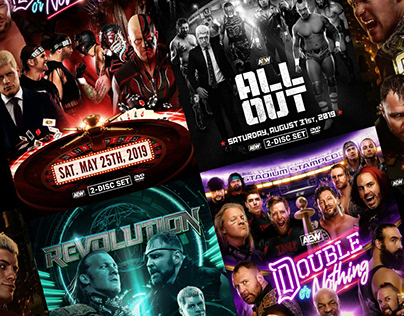 AEW™ 1st batch of DVDs artworks