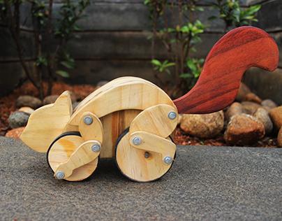 Wooden Toy Squirrel