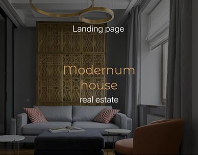 Modernum house - Landing page (real estate)