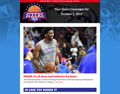 Sixers Talk HTML email