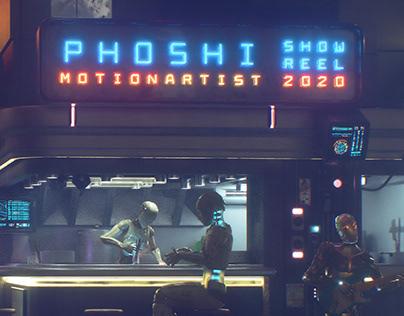 phoshi   motion artist   Show Reel 2020
