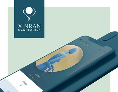 XINRAN Mannequins - Website design - UI / UX mobile
