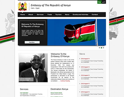 Embassy of Kenya website design