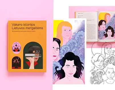 Illustrations for book | Book about Lithuania's women