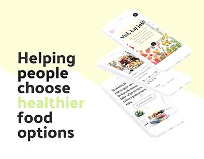 Healthy lifestyle portal redesign - Veš, kaj ješ?