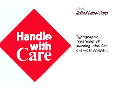 Handle with Care label