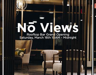 No Studio's No Views Rooftop Party Branding
