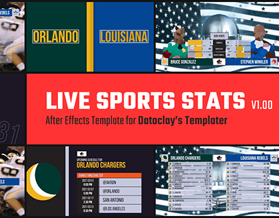 Live Sports Stats - Dataclay Template