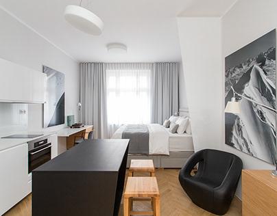 A small studio apartment in Prague