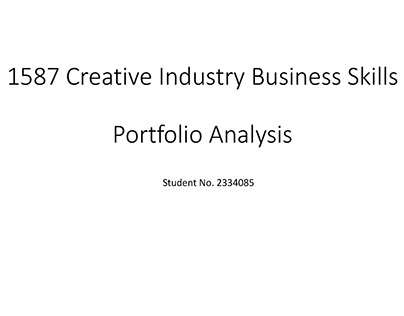 Martin College 1587 Creative Industry Business Skills