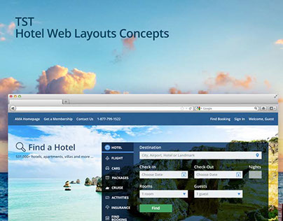 TST Hotel Web Layouts Concepts