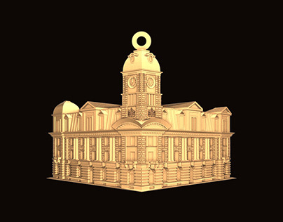 Regina Theatre medallion. CNC