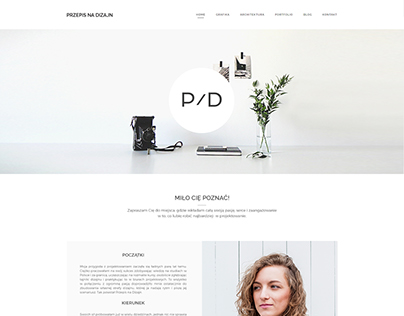 Branding & website PRZEPIS NA DIZAJN