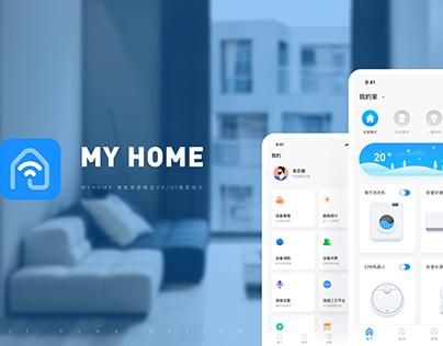 MY HOME UI UX APP DESIGN 智能家居