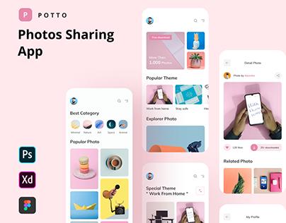 Potto - Photos Sharing App