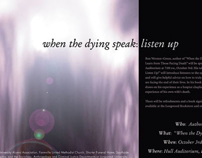 Event Poster, Longwood University