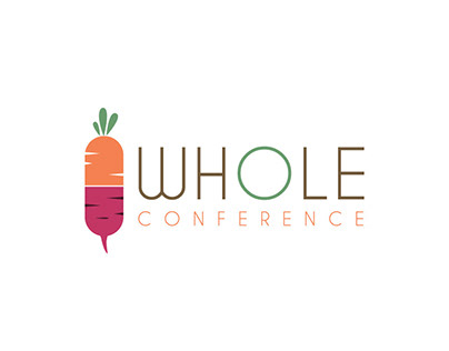 Conference on plant-based lifestyle logo concept