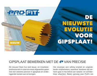 ProFit leaflets, press releases and Prezi presentation