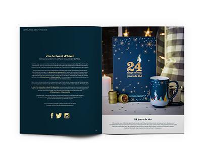 Holiday Magazine Design & Layout for DAVIDsTEA