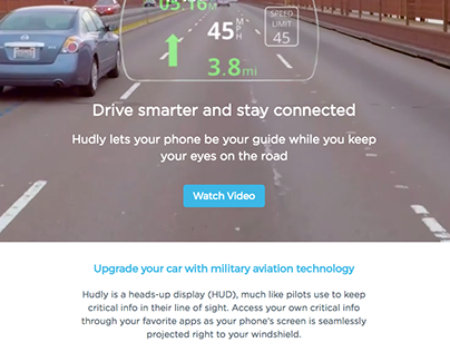 Web Content for Hot New Tech Startup: Hudly
