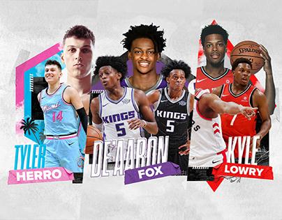 NBA Rising Stars | Social Graphics