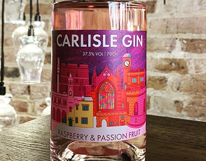 Carlisle Gin Label Design