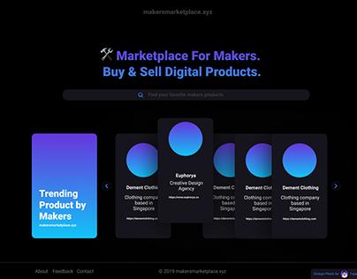 Makers Marketplace UI/UX Design Idea Version Dark Mode
