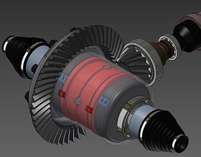 3D CAD Model for Automotive Component Manufacturing