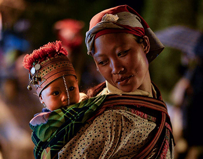 Mother and son in Sapa VietNam