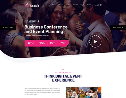 Aconte - Events, Conference and Meetup HTML Template