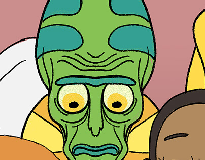 The Rick and Morty Couch Gag Poster