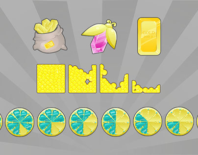 "Icons for Match3 game ""Gems Land"""
