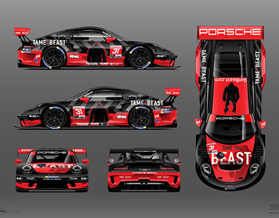 Tame The Beast Porsche 991 GT3 Livery by RPM-3D, Inc.