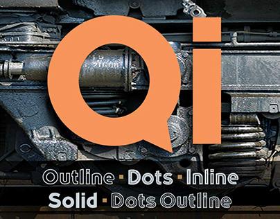 Qi Typeface Family Design
